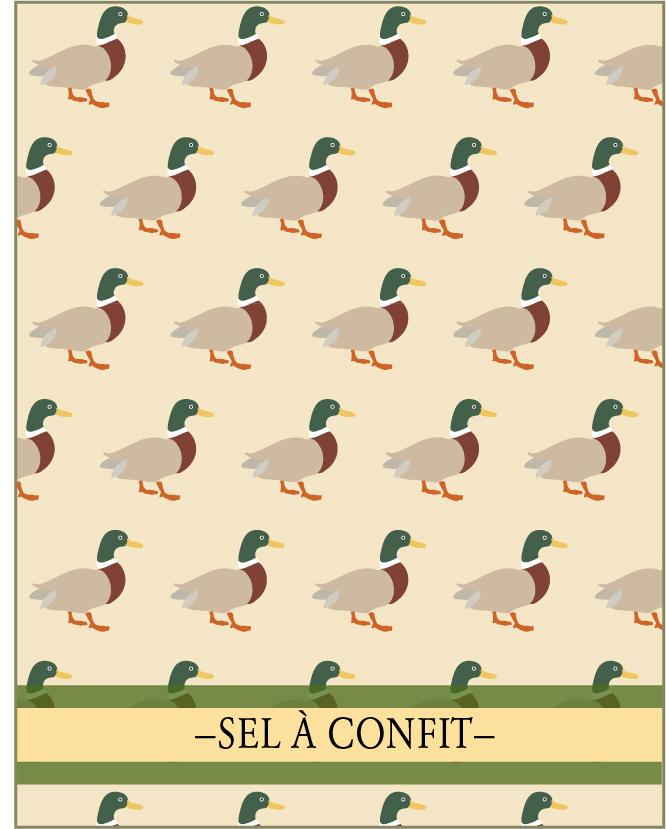 SEL À CONFIT. Un des 7 mélanges  de la Collection Classique de lasphereculinaire.ca