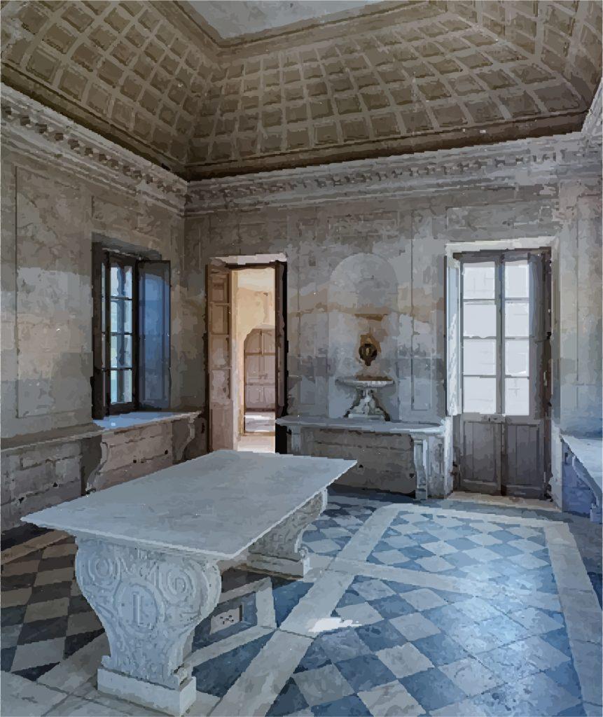Le hameau de la Reine. Laiterie deMarie-Antoinette à Versailles.