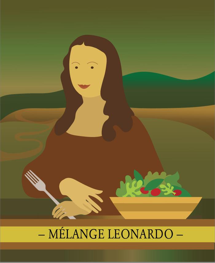 Le mélange Leonardo, pour les vinaigrettes et les marinades de la cuisine italienne. ID9707