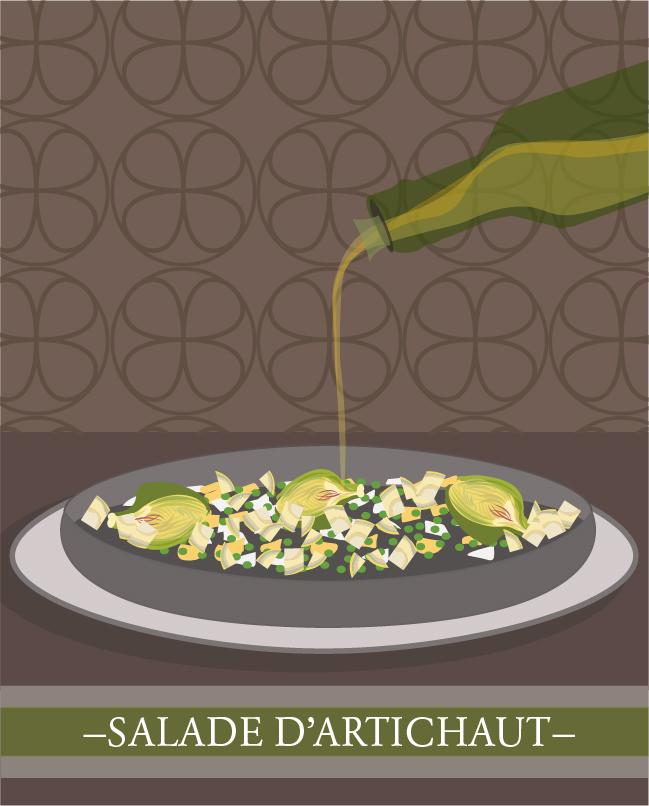 salade d'artichaut de Colette